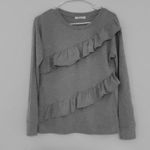 Price is firm Beautiful gray blouse